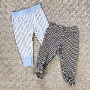 Baby Boy Pants Bundle Stripes Blue Brown